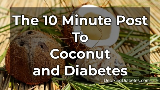 Coconut and diabetes